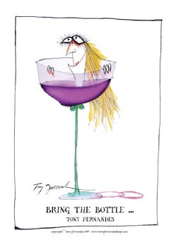 Bring the Bottle - signed print